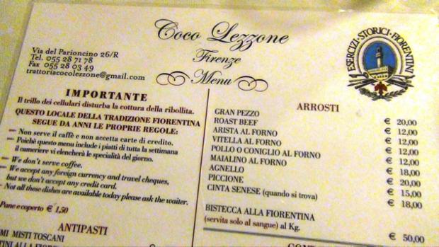 Trattoria Coco Lezzone - Firenze 6