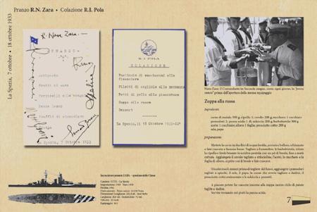 menu anni 30 - base navale La Spezia 1