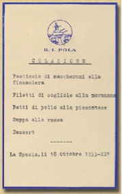 menu anni 30 - base navale La Spezia 5
