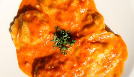 ricetta Pansotti di mare con porri e gamberi 1