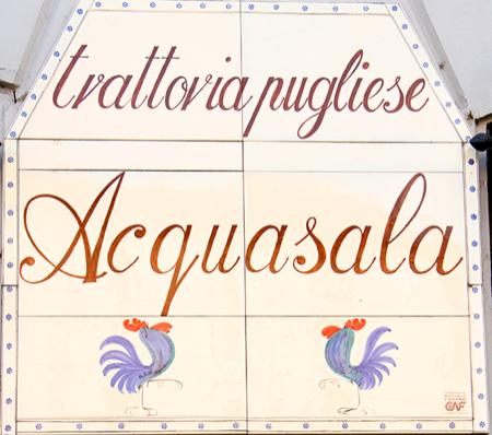 acquasala trattoria pugliese a Milano 1
