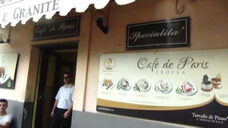 Calabria Granita Cafe de Paris Tropea 5