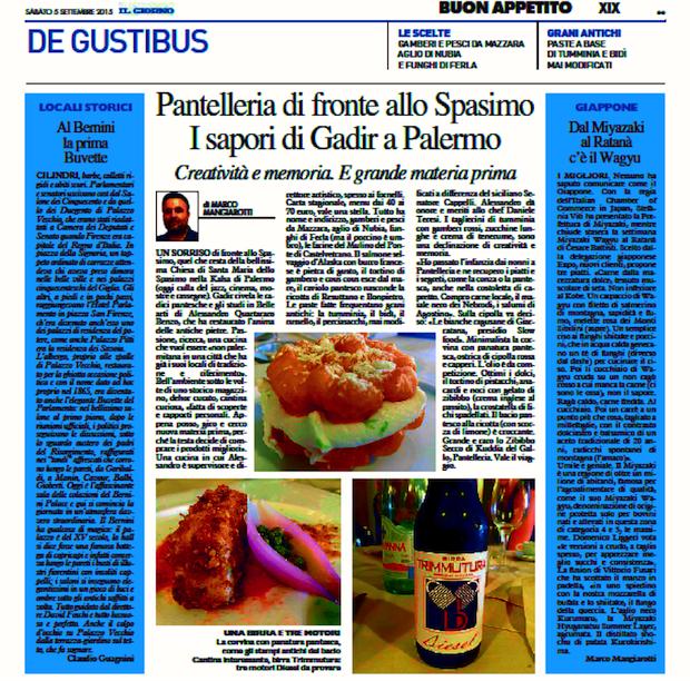 pantelleria sapori di Gadir a Palermo 5