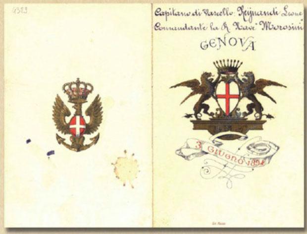 I Menu storici della Regia Marina