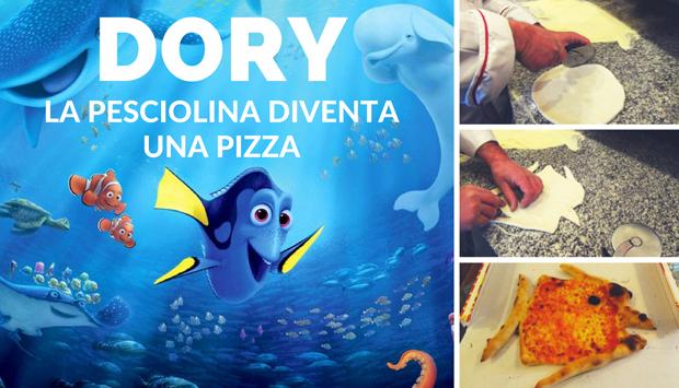 Alla ricerca di Dory, la pesciolina diventa una pizza fatta in casa