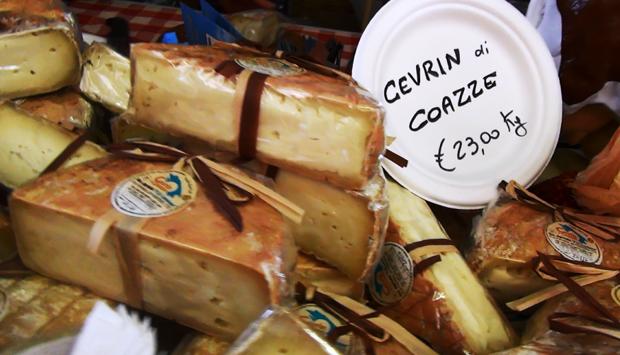 Cevrin di Coazze, formaggio tipico della provincia di Torino