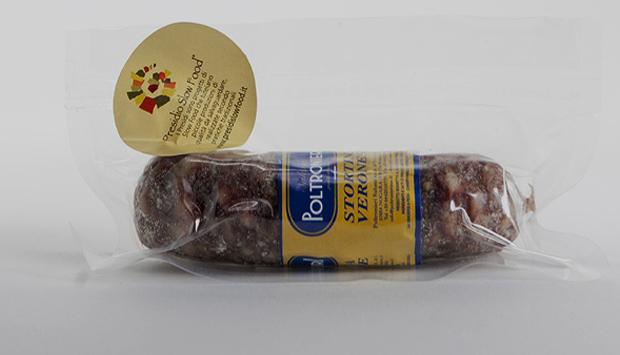 La Stortina veronese, piccolo salame sotto lardo Presidio Slow Food