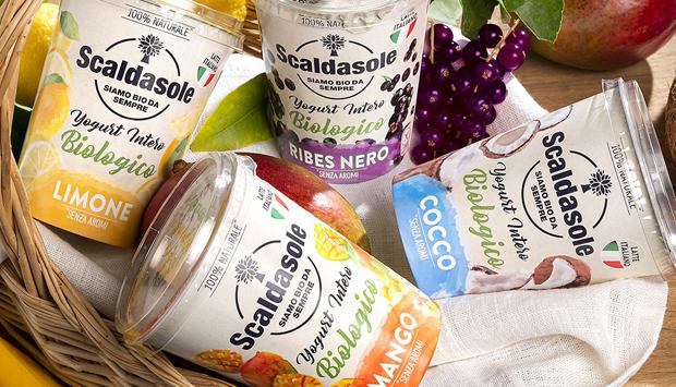 Nuovi Yogurt Interi biologici alla Frutta Scaldasole, natura senza aromi