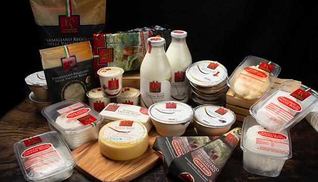 I prodotti del latte di Vacche Rosse, partendo dal Parmigiano Reggiano