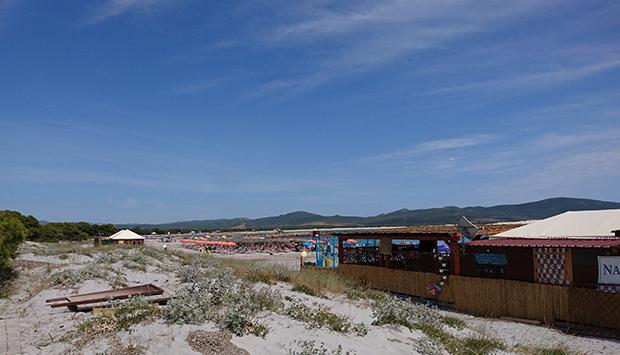 La spiaggia di Porto Pino nella natura selvaggia della Sardegna del Sud